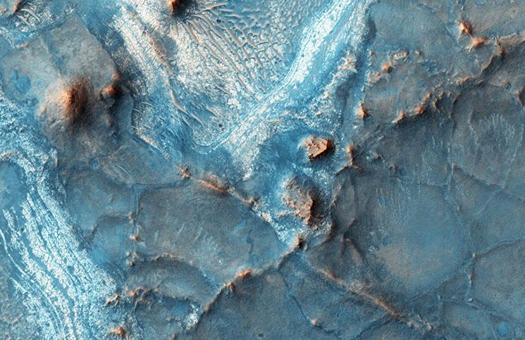 Marte experimentó dos tsunamis de 120 metros de altura