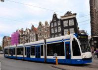 Juego interactivo en el tranvía de Amsterdam