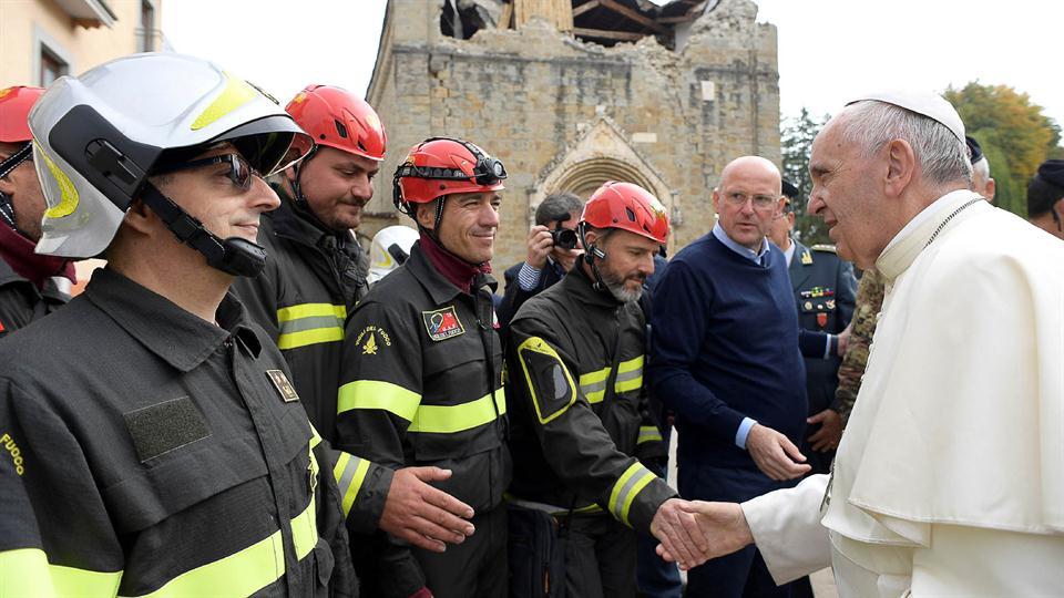 Papa Francisco visita Amatrice