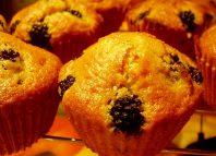Muffins con yogur y moras
