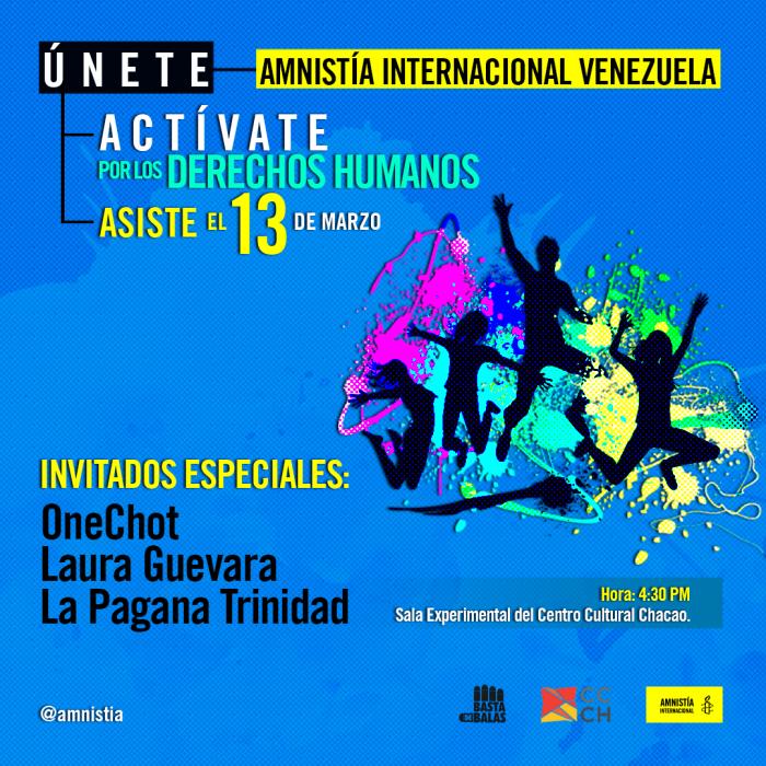 Amnistía Internacional tendrá una actividad